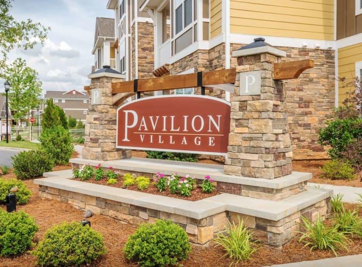 Sign at Pavilion-Village-Apartments---Charlotte-NC