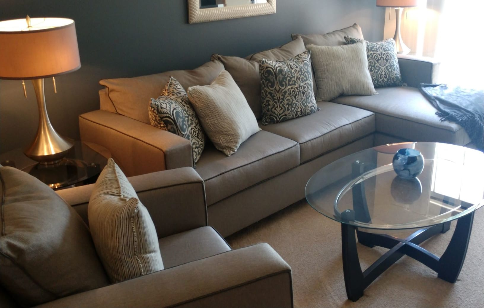 Gorgeous Living Room With Sofas at Deer Run Apartments, Brown Deer, 53223