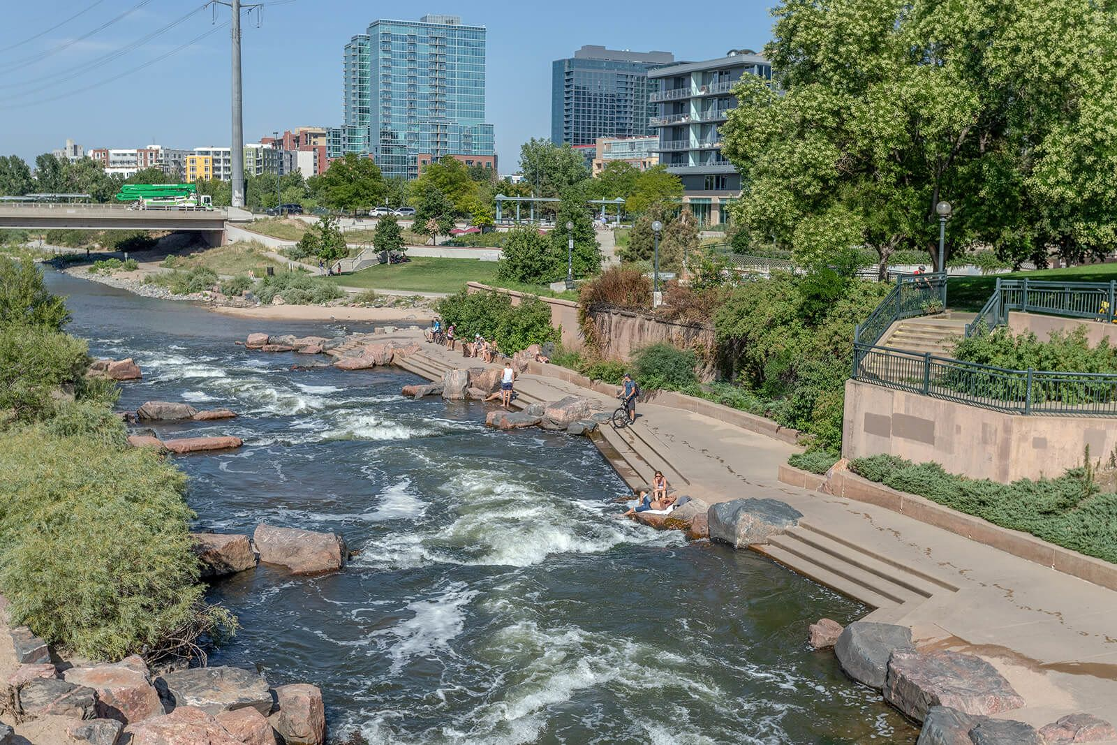 Platte River Path Bike Trail near Element 47 by Windsor, Denver, CO