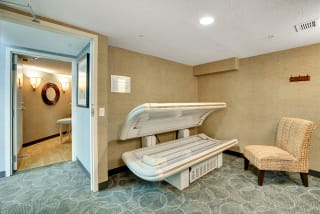 The Riverwood Apartments in Lilydale, MN Tanning Bed