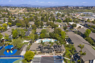 Arial View of Community Amenities at Waterleaf, Vista, California