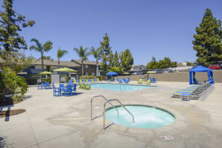 Hot Tub And Swimming Pool at Waterleaf, Vista, CA