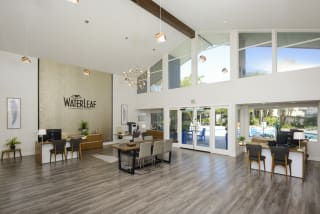 Spacious Lobby Area at Waterleaf, Vista, California