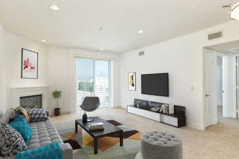 Living Room Remodel With Standard Fireplace at The Social, North Hollywood, CA, 91601