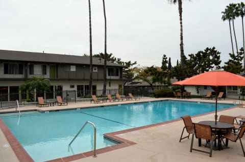 Pool Seating at Terramonte Apartment Homes, Pomona, CA, 91767
