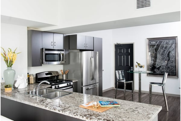 Chef Inspired Kitchen Islands at 1600 Vine Apartment Homes, California, 90028