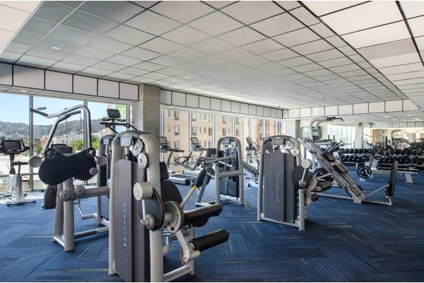 Fitness Center and Yoga/Dance Studio at 1600 Vine Apartment Homes, Los Angeles, 90028