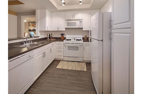 Upgraded Kitchen Countertops and Appliances at Mirabella Apartments, Bermuda Dunes, 92203