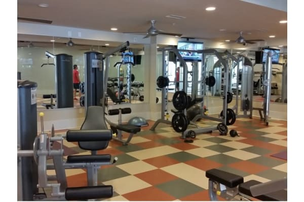 24 hour fitness studio at 1160 Hammond Apartments in Sandy Springs, GA
