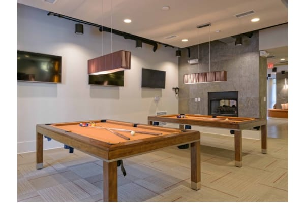 Resident game room at 1160 Hammond Apartments in Sandy Springs, GA