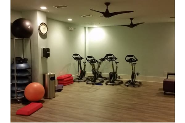 Yoga and stretching room at 1160 Hammond Apartments in Sandy Springs, GA