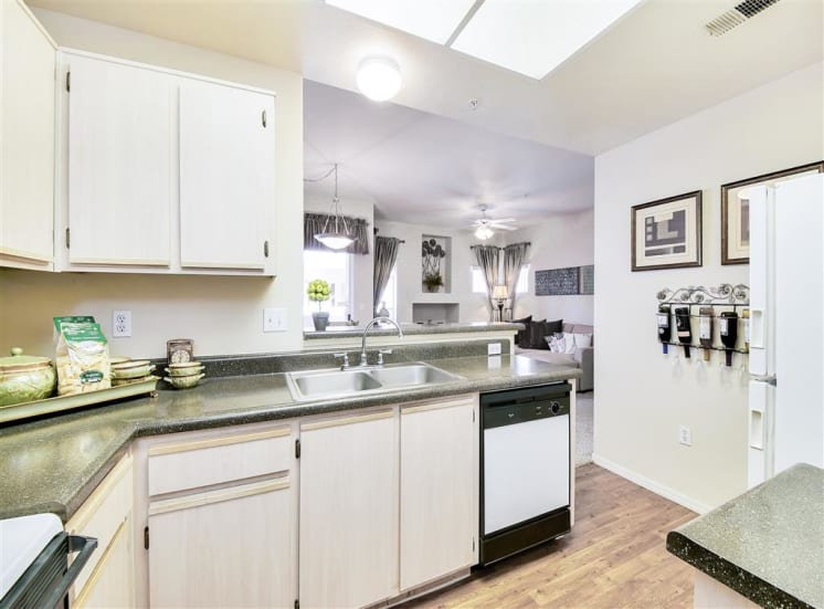Dishwasher in kitchen at Ventana Apartment Homes in Central Scottsdale, AZ, For Rent. Now leasing 1 and 2 bedroom apartments.