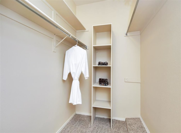Oversized walk in closets at Ventana Apartment Homes in Central Scottsdale, AZ, For Rent. Now leasing 1 and 2 bedroom apartments.
