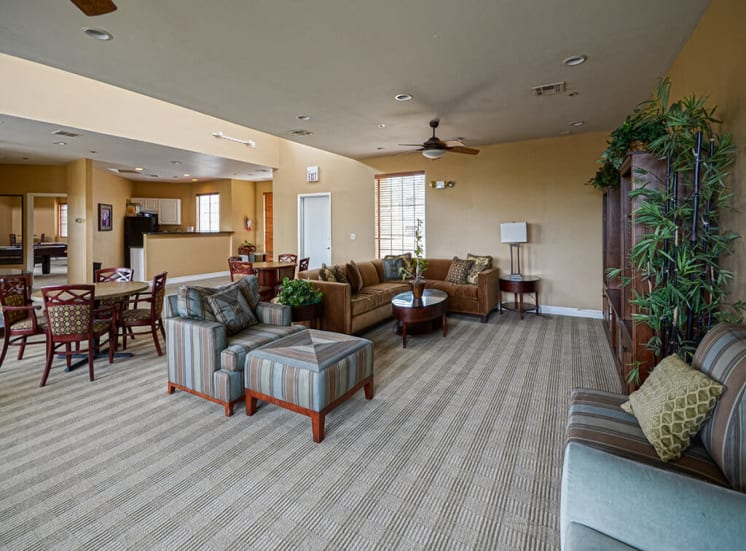 Comfortable seating in Clubhouse at Pavilions at Pantano in Tucson, AZ, For Rent. Now leasing 1, 2 and 3 bedroom apartments.