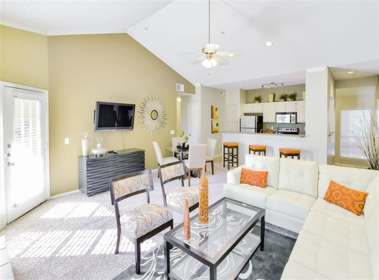 Vaulted Ceilings at The Winsted at Valley Ranch in Irving, TX, For Rent. Now leasing 1 and 2 bedroom apartments.