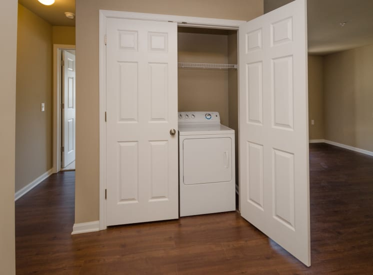 washer and dryer in closet