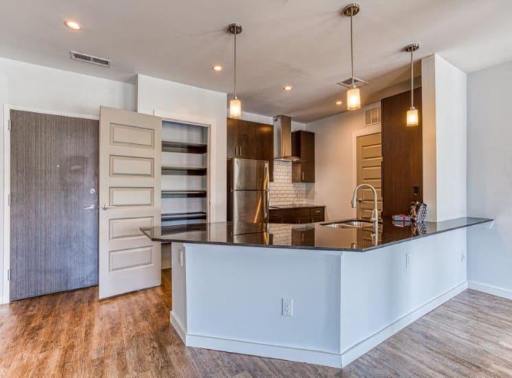 Elegant eat-in kitchen at Carroll at Bellemeade, Greensboro, 27401