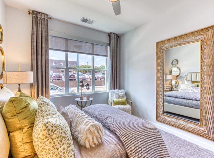 Ample Bedrooms that Accommodate King-Size Beds at Carroll at Bellemeade, Greensboro, North Carolina