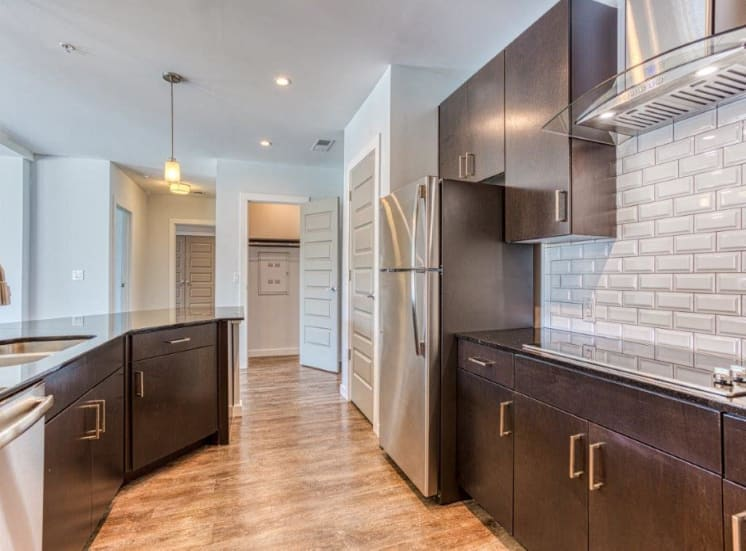 Espresso Shaker-Style Cabinetry at Carroll at Bellemeade, Greensboro, NC