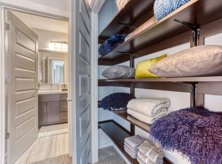 Closets with Built-in Shelving at Carroll at Bellemeade, Greensboro, North Carolina
