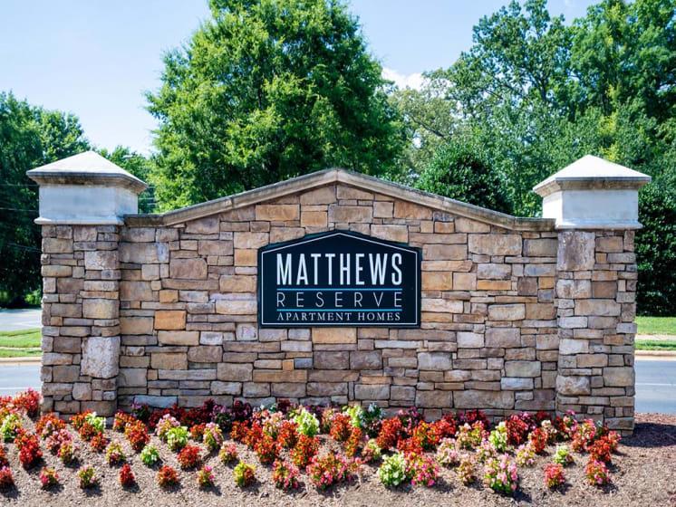 Matthews Reserve Entry Sign