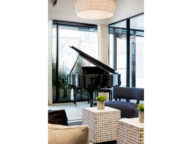 Large Grand Piano in Lobby at The M On Hennepin Apartments in Minneapolis, MN