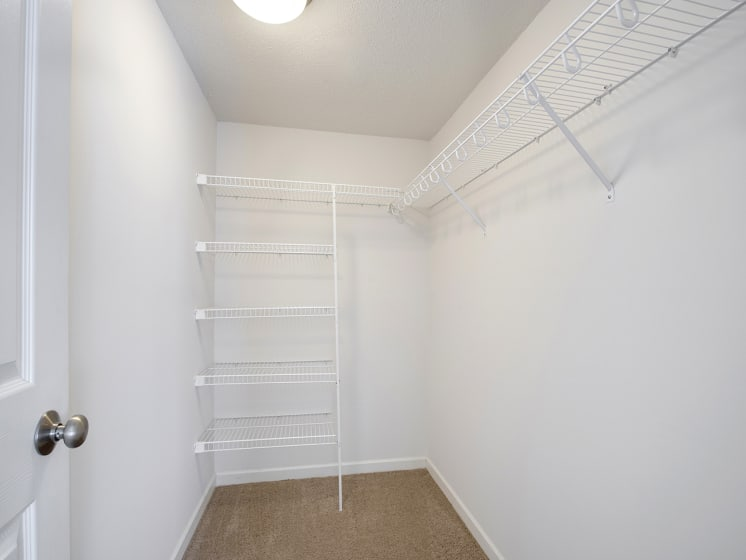 The Riverwood Apartments in Lilydale, MN Walk-in Closet