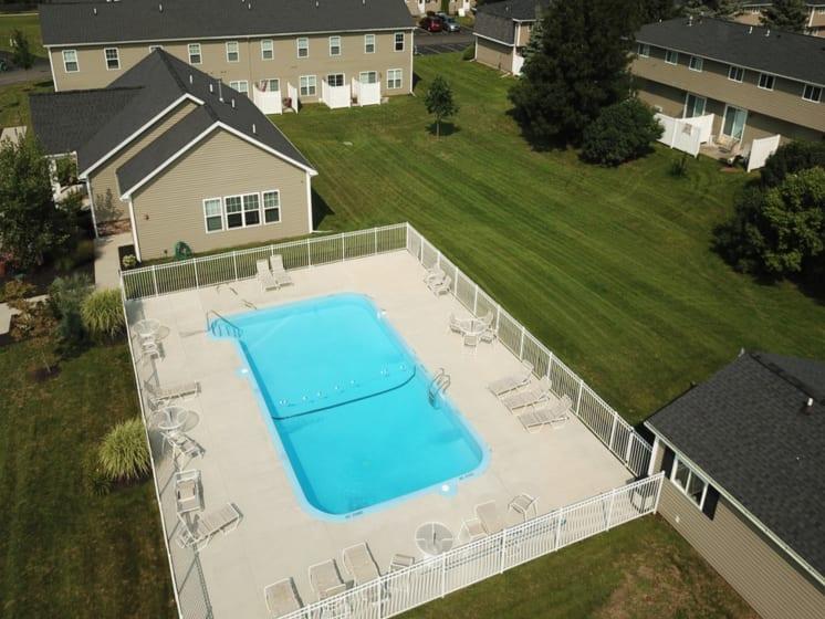 Beautiful blue swimming pool