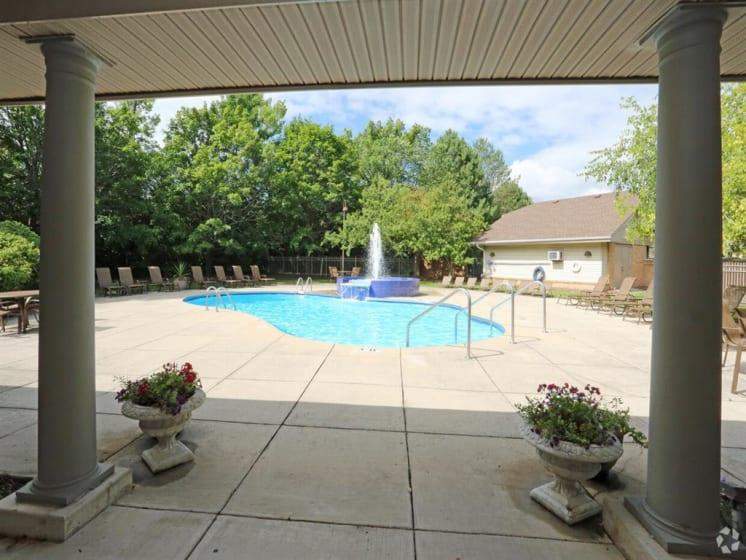 Classic View OF Pool at Deer Run Apartments, Brown Deer, Wisconsin