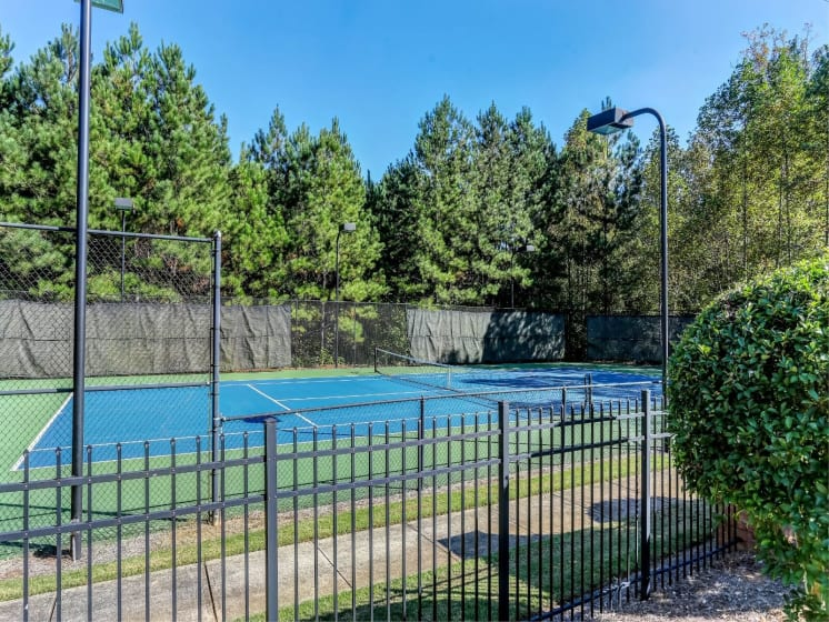 Lighted Tennis Court at Tramore Village Apartment Homes, Georgia