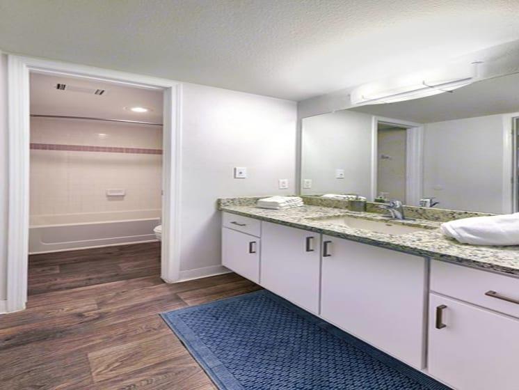 Bathroom Vanity And Walk In Closet at Verdant Apartment Homes, Boulder, CO, 80303