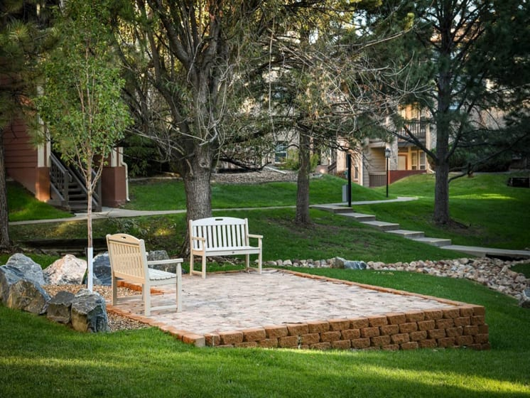 Benches Spread Out Across The Grounds at Verdant Apartment Homes, Boulder