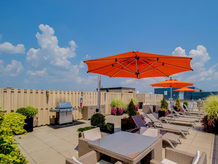 Rentable Rooftop Terrace at The Hudson Apartments, Washington, DC