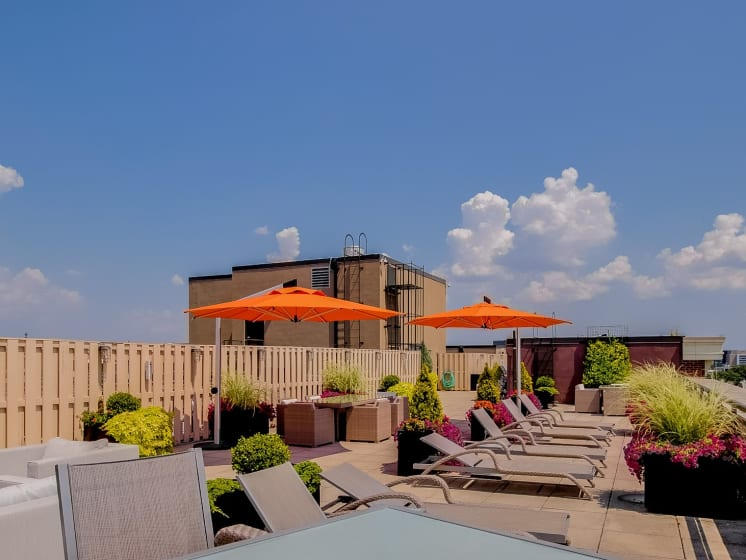 Rooftop Lounge at The Hudson Apartments, District of Columbia