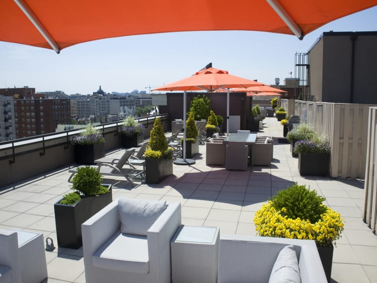 Rooftop Deck at The Hudson Apartments, DC
