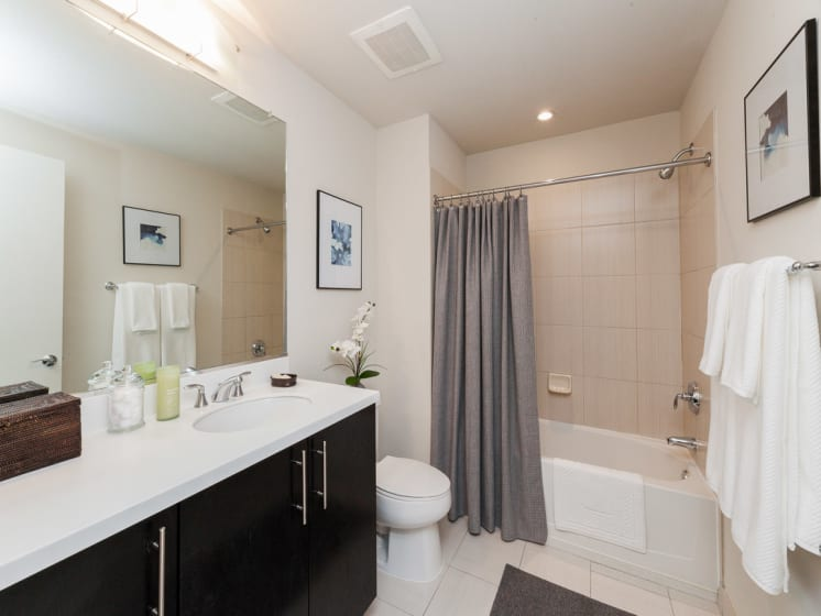Bathroom With Bathtub at The Woodward Building Apartments, District of Columbia
