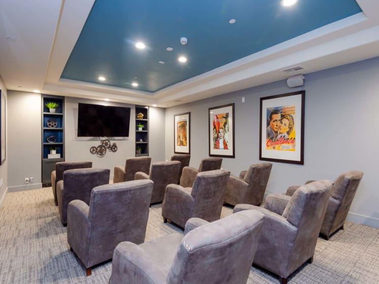 Media Room at Meridian Place, Northridge, CA