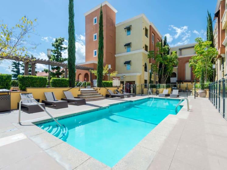 Pool Side Sundeck at Meridian Place, Northridge, 91324
