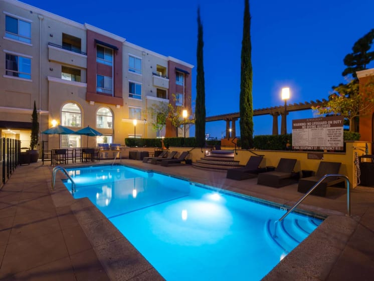 Sparkling Swimming Pool at Meridian Place, California