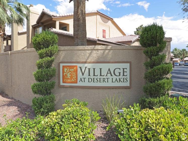 Welcome Sign at Village at Desert Lakes, Las Vegas