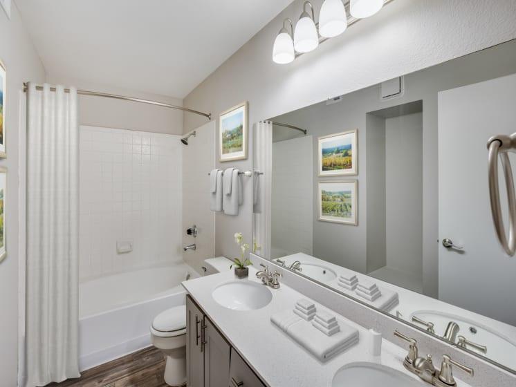 Large Soaking Tub In Master Bathroom at Village at Desert Lakes, Nevada, 89117