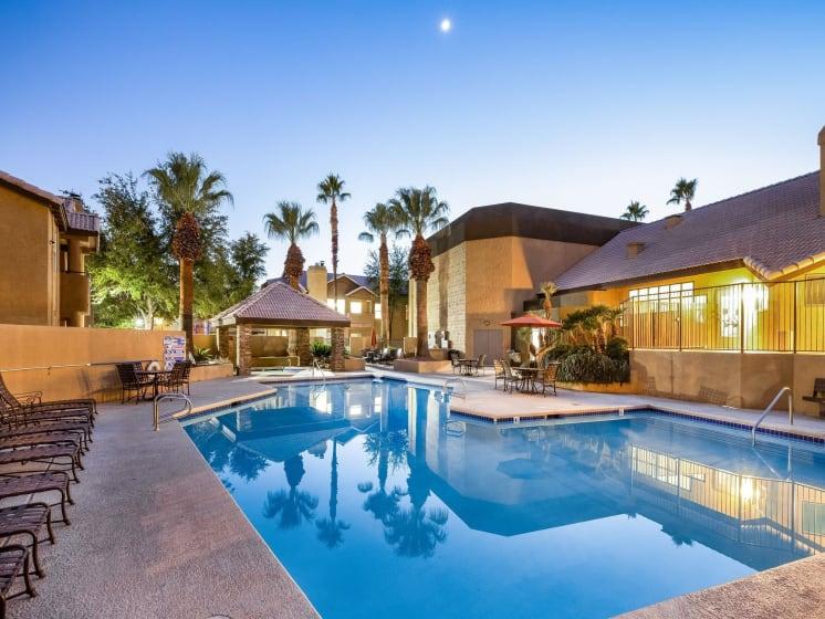 Lakeside Swimming Pool at Village at Desert Lakes, Nevada, 89117