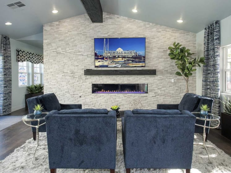 Gorgeous Living Area With TV Set at Marina Village, Sparks, NV