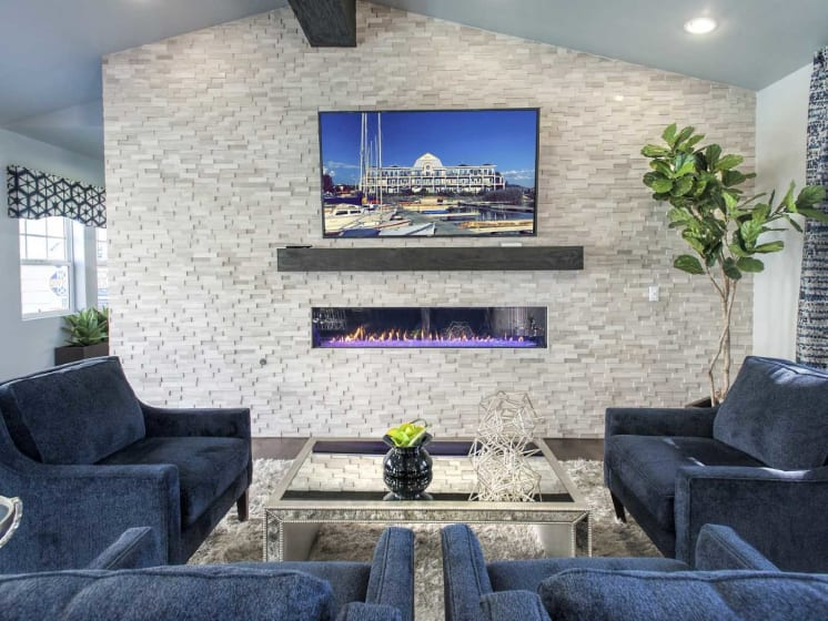 Sophisticated styling Living Area at Marina Village, Sparks, Nevada