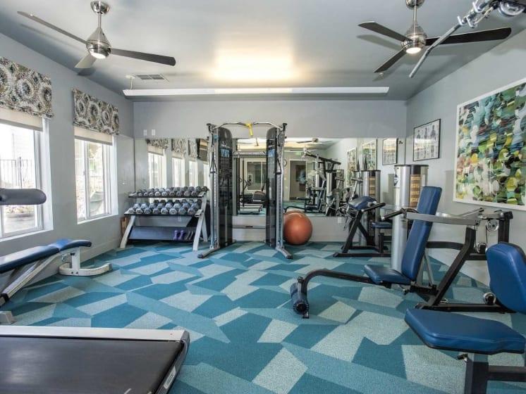 Fitness Center With Modern Equipment at Marina Village, Nevada, 89434