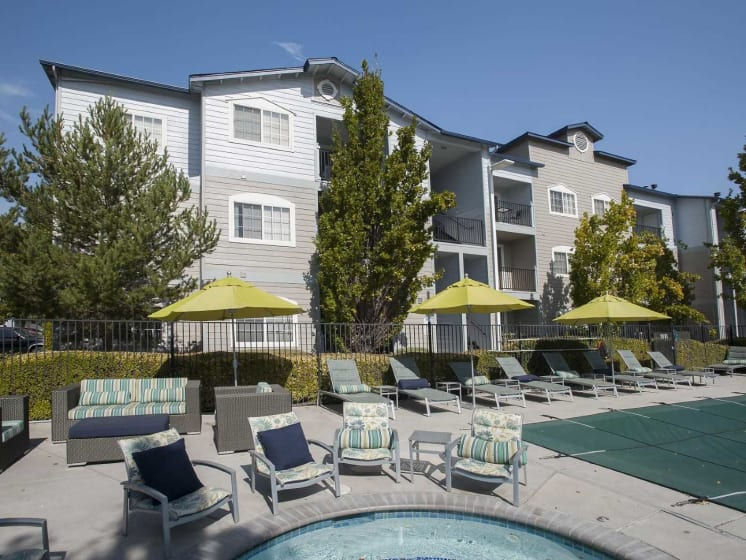 Relaxed Sun-Deck Area at Marina Village, Sparks