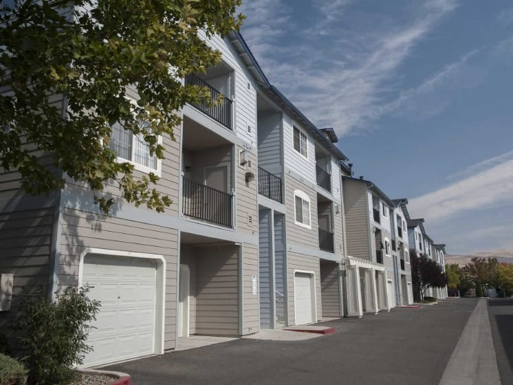 Ample Parking Area And Detached Garages Available at Marina Village, Sparks