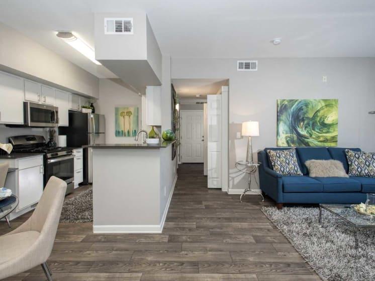 Living Room and Dining Area at Marina Village, Nevada