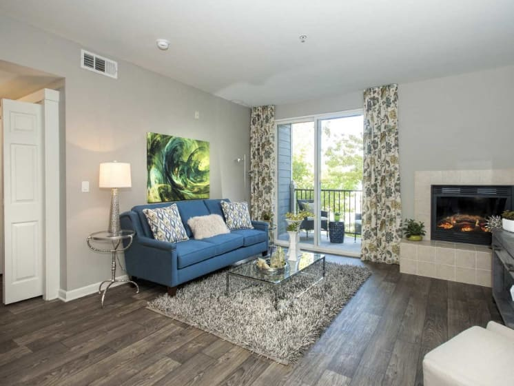 Living Room Remodel With Fireplace at Marina Village, Nevada, 89434