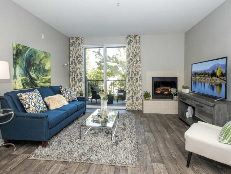State Of Art Living Room With Private Balcony at Marina Village, Sparks, Nevada